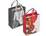 Geschenktüte Mann/Frau mit Steinchen