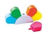 Textmarkerblume mit 5 farbigen Textmarkern